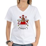 Maurer Family Crest Women's V-Neck T-Shirt