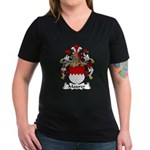 Maurer Family Crest Women's V-Neck Dark T-Shirt