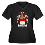 Maurer Family Crest Women's Plus Size V-Neck Dark