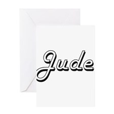 Jude Classic Style Name Greeting Cards