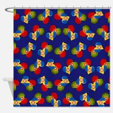 Portugal and Madeira hearts Shower Curtain
