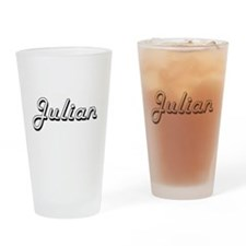 Julian Classic Style Name Drinking Glass