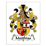 Matthias Family Crest Small Poster