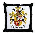 Matthias Family Crest Throw Pillow