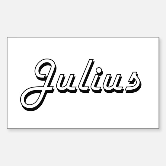 Julius Classic Style Name Decal