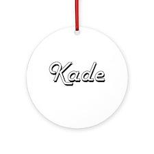 Kade Classic Style Name Ornament (Round)