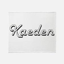 Kaeden Classic Style Name Throw Blanket