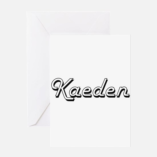 Kaeden Classic Style Name Greeting Cards