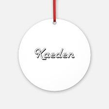 Kaeden Classic Style Name Ornament (Round)