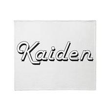 Kaiden Classic Style Name Throw Blanket