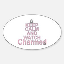 Keep Calm and Watch Charmed Sticker (Oval)