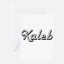 Kaleb Classic Style Name Greeting Cards