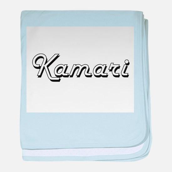 Kamari Classic Style Name baby blanket