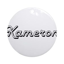 Kameron Classic Style Name Ornament (Round)