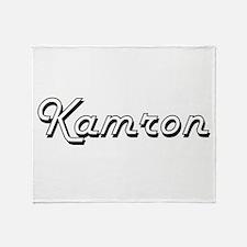 Kamron Classic Style Name Throw Blanket