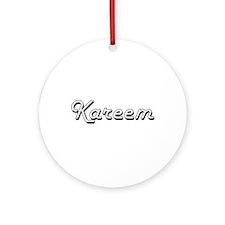 Kareem Classic Style Name Ornament (Round)