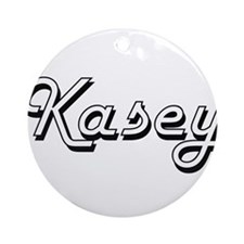 Kasey Classic Style Name Ornament (Round)