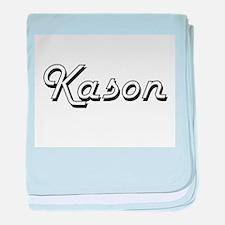 Kason Classic Style Name baby blanket
