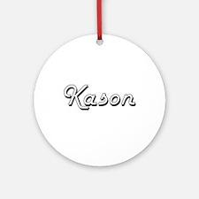 Kason Classic Style Name Ornament (Round)