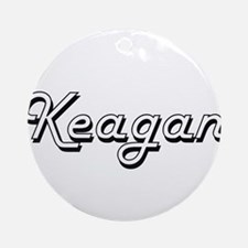 Keagan Classic Style Name Ornament (Round)