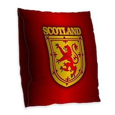 Scotland (coa) Burlap Throw Pillow