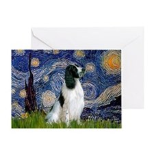 Starry Night English Springer Greeting Card