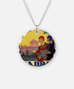 Cute Spain Necklace Circle Charm