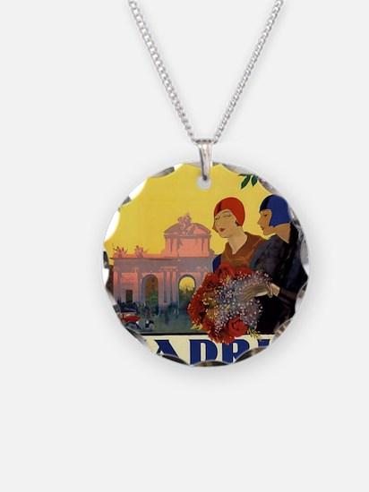 Cute Spain Necklace Circle Charm