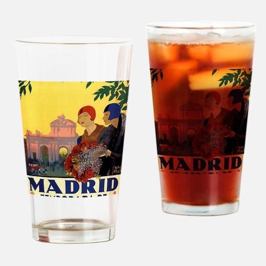 Cute Madrid spain Drinking Glass
