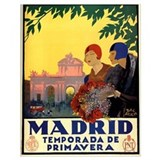 Madrid vintage Framed Prints