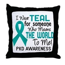 PKD MeansWorldToMe2 Throw Pillow