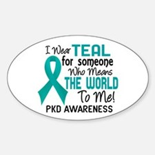 PKD MeansWorldToMe2 Sticker (Oval)