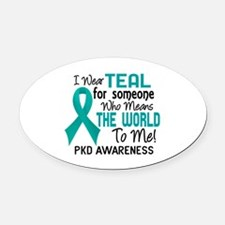 PKD MeansWorldToMe2 Oval Car Magnet