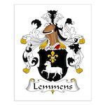 Lemmens Family Crest  Small Poster