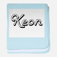 Keon Classic Style Name baby blanket