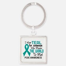 PCOS MeansWorldToMe2 Square Keychain