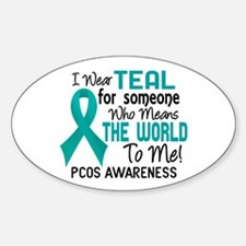 PCOS MeansWorldToMe2 Decal