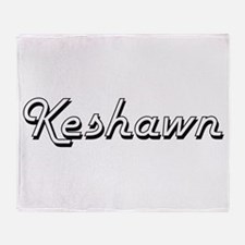 Keshawn Classic Style Name Throw Blanket