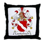 Lauterbach Family Crest Throw Pillow