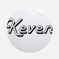 Keven Classic Style Name Ornament (Round)