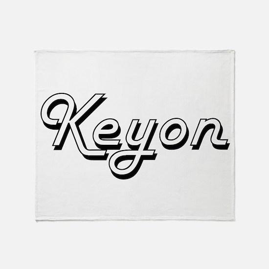 Keyon Classic Style Name Throw Blanket