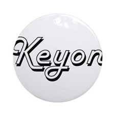 Keyon Classic Style Name Ornament (Round)