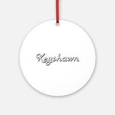 Keyshawn Classic Style Name Ornament (Round)