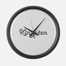 Kingston Classic Style Name Large Wall Clock