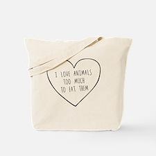 Funny Vegetarian Tote Bag