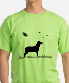 Dog With Butterflies T-Shirt
