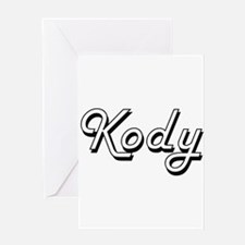 Kody Classic Style Name Greeting Cards