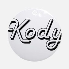 Kody Classic Style Name Ornament (Round)