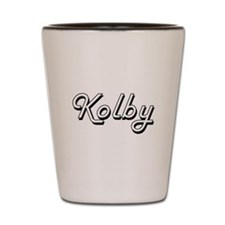 Kolby Classic Style Name Shot Glass