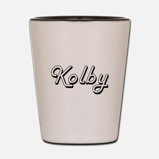 Kolby Classic Style Name Shot Glass